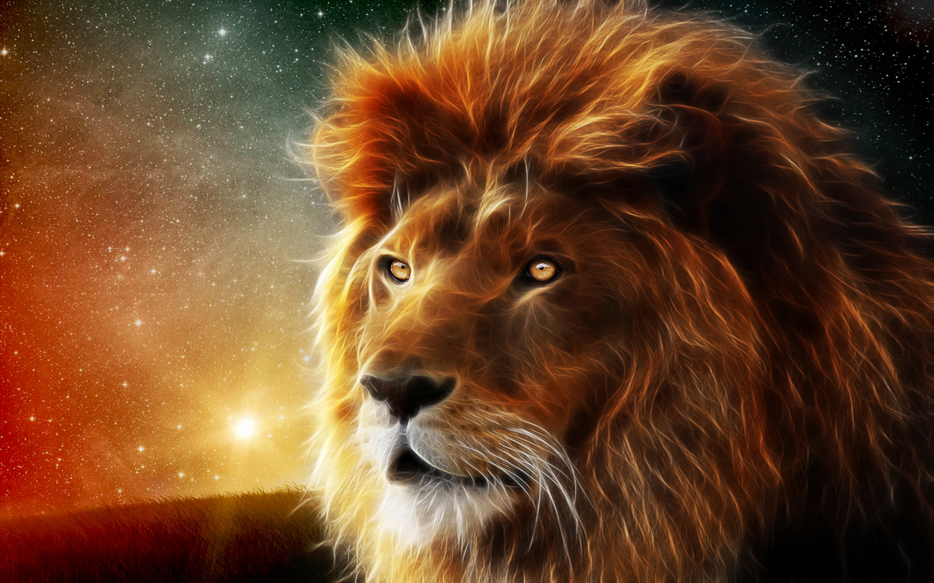 3D Lion Wallpapers 1920×1200
