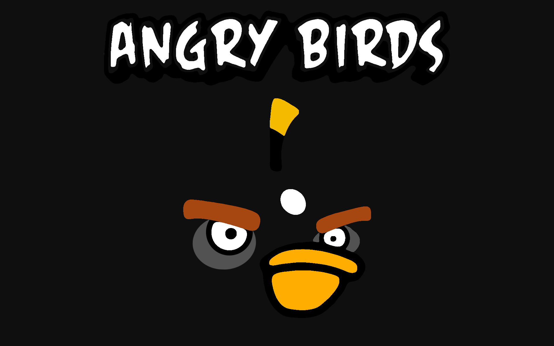 Angry Bird Black Wallpaper