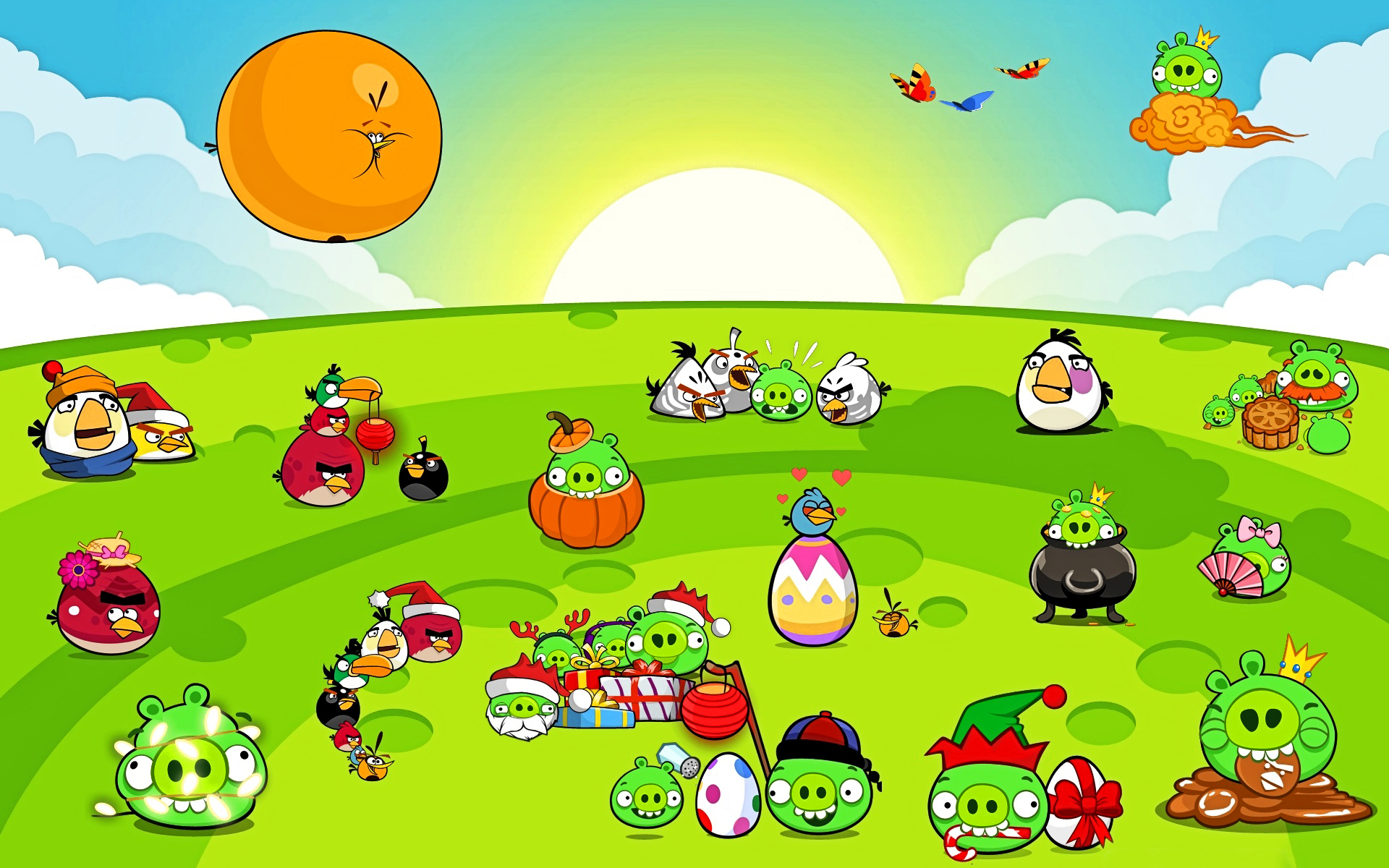 Angry Bird Wallpaper Windows Seven