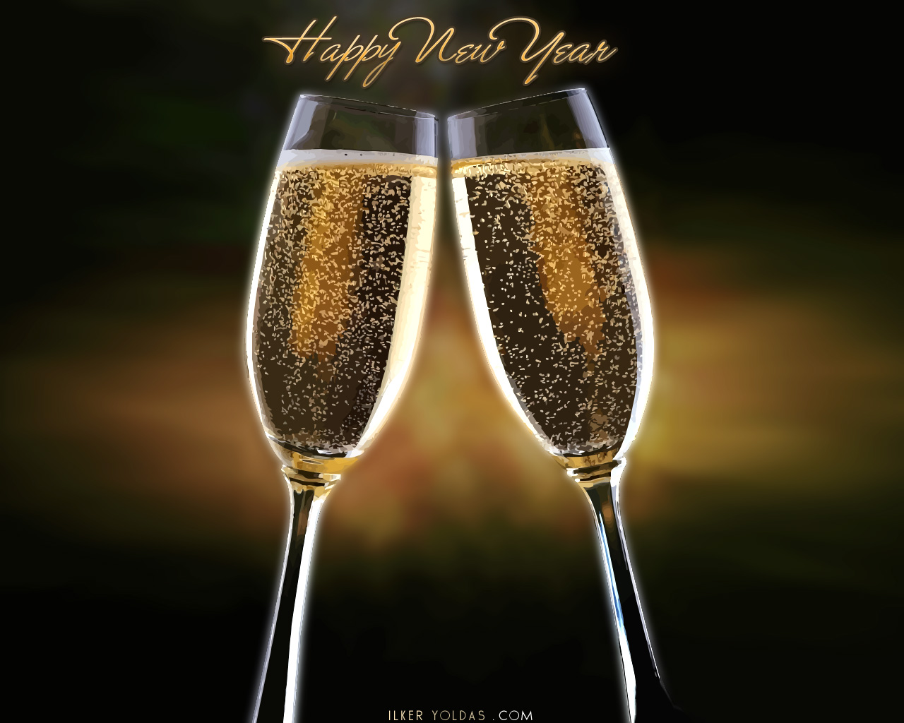 Celebrate Happy New Year Wallpaper
