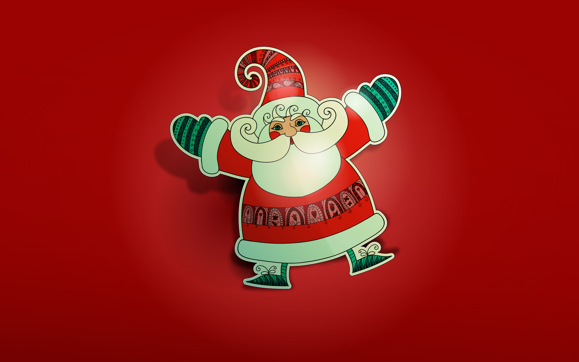Christmas Santa Claus Wallpaper Themes Cute
