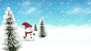 Christmas Snowman Wallpaper 1920x1080