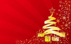 Christmas Tree Red Wallpaper