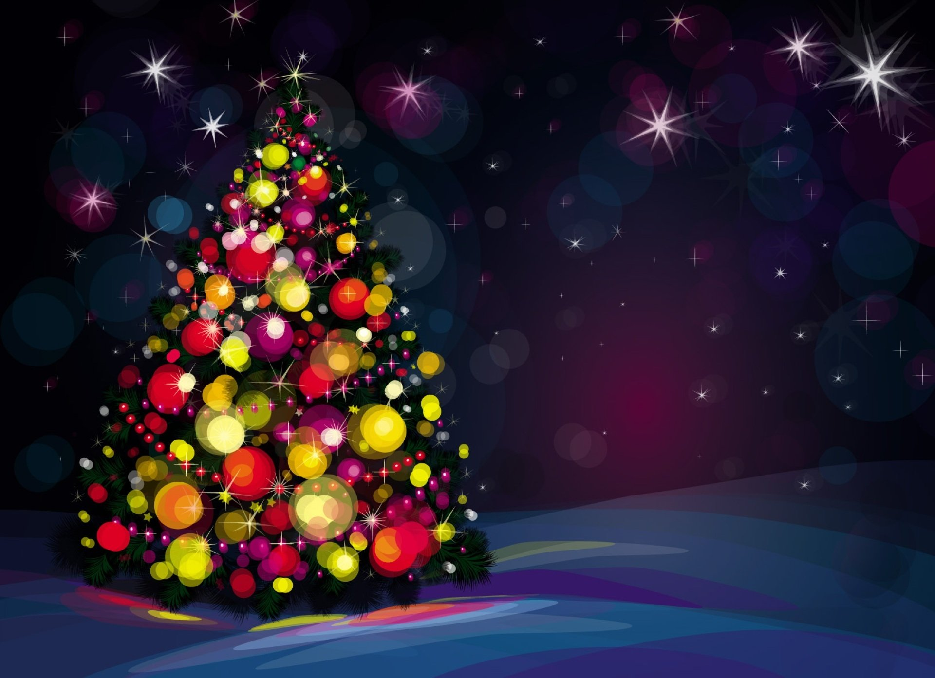 Christmas tree wallpaper image desktop wallpaper with 1920x1393