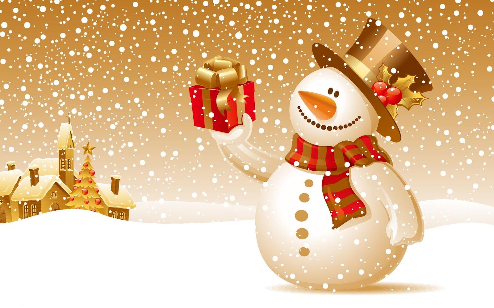 Christmas Wallpaper Snowman Free Downloads