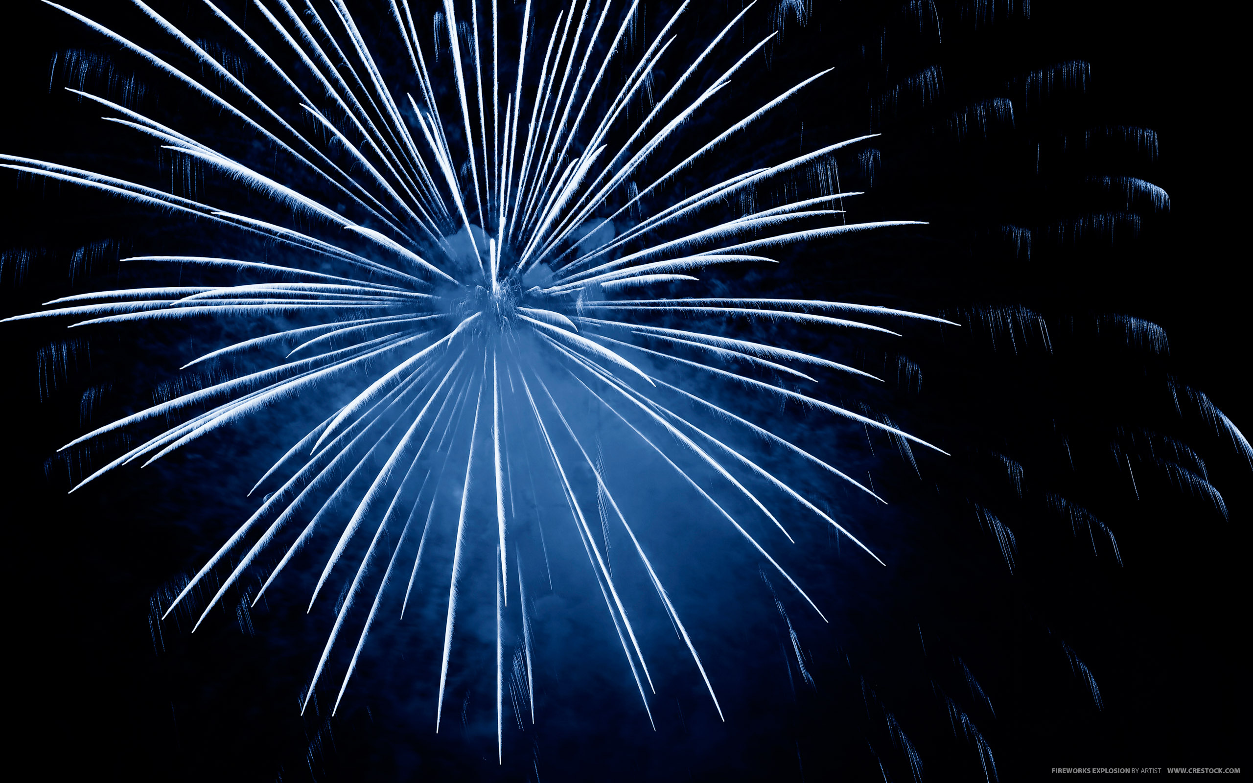 Fireworks Blue Wallpaper Fullscreen