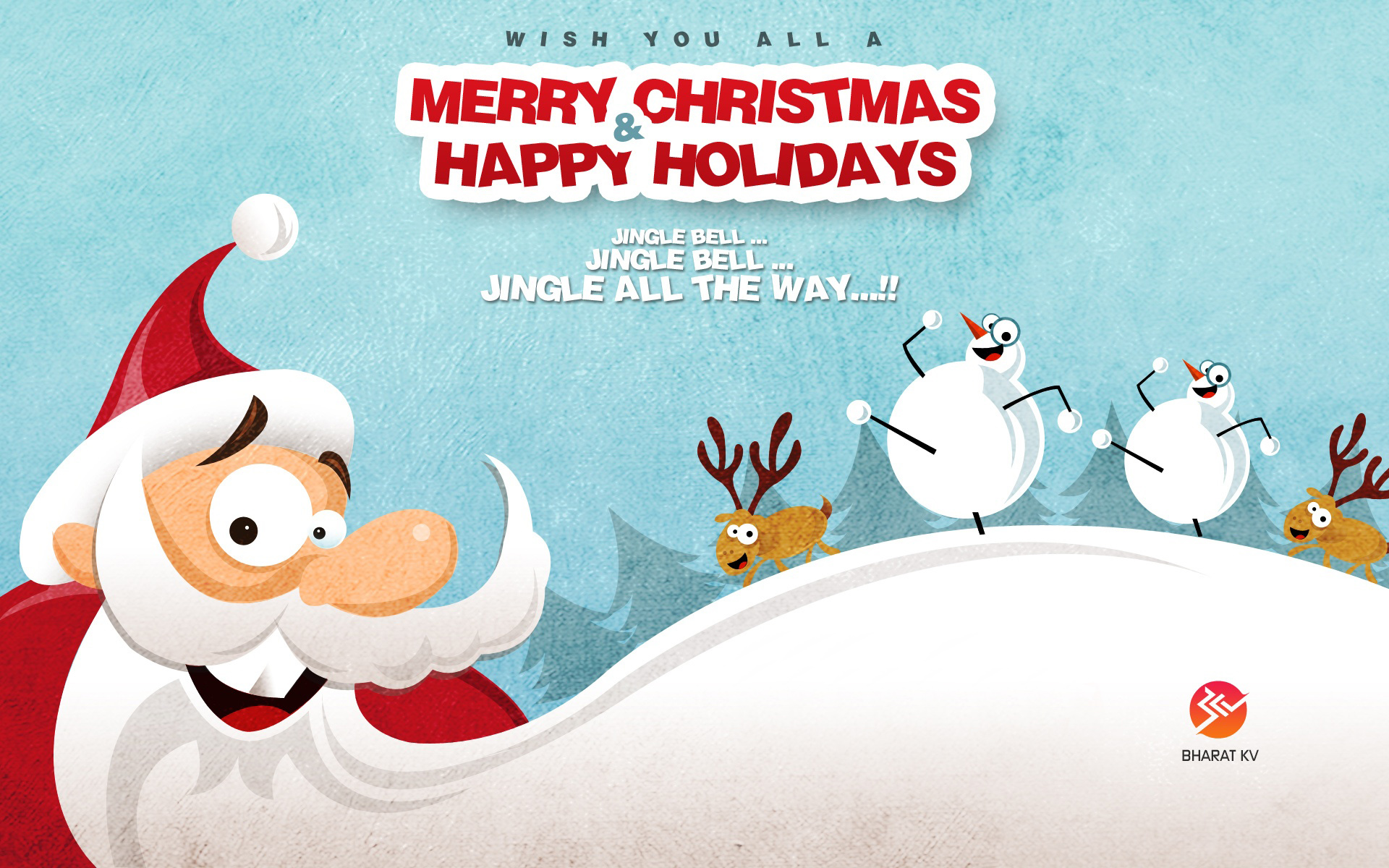 Happy Merry Christmas 2014 Free Wallpaper