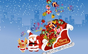 Happy Merry Christmas Background Free