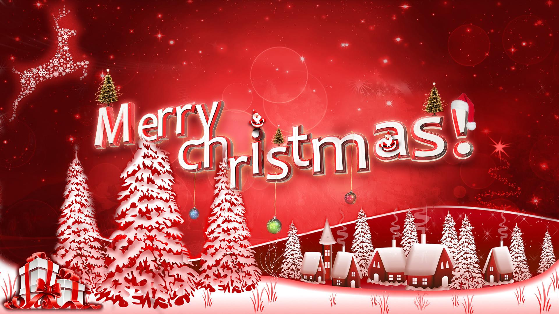 Happy Merry Christmas December Wallpaper