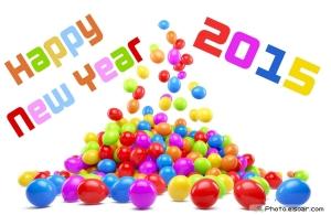 Happy New Year 2015 Balloons Wallpaper