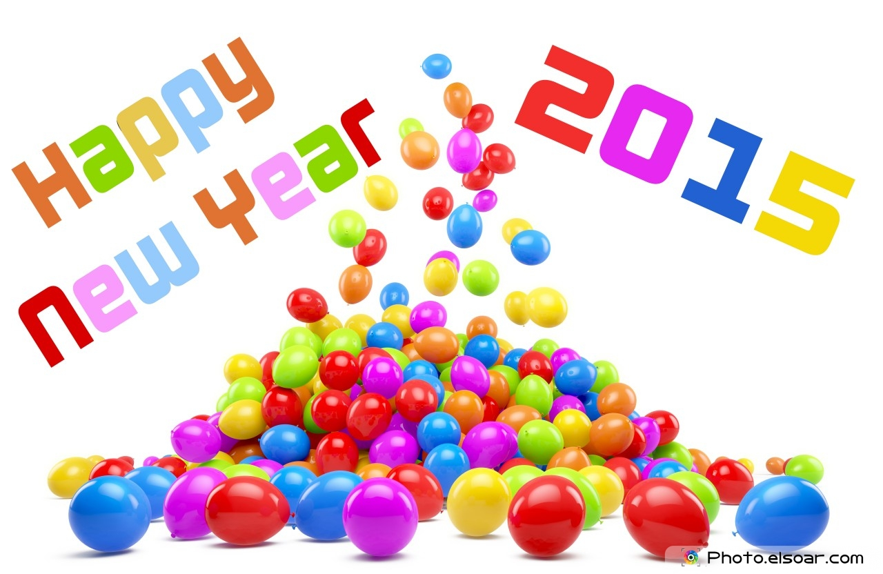 Happy New Year 2015 Balloons Wallpaper