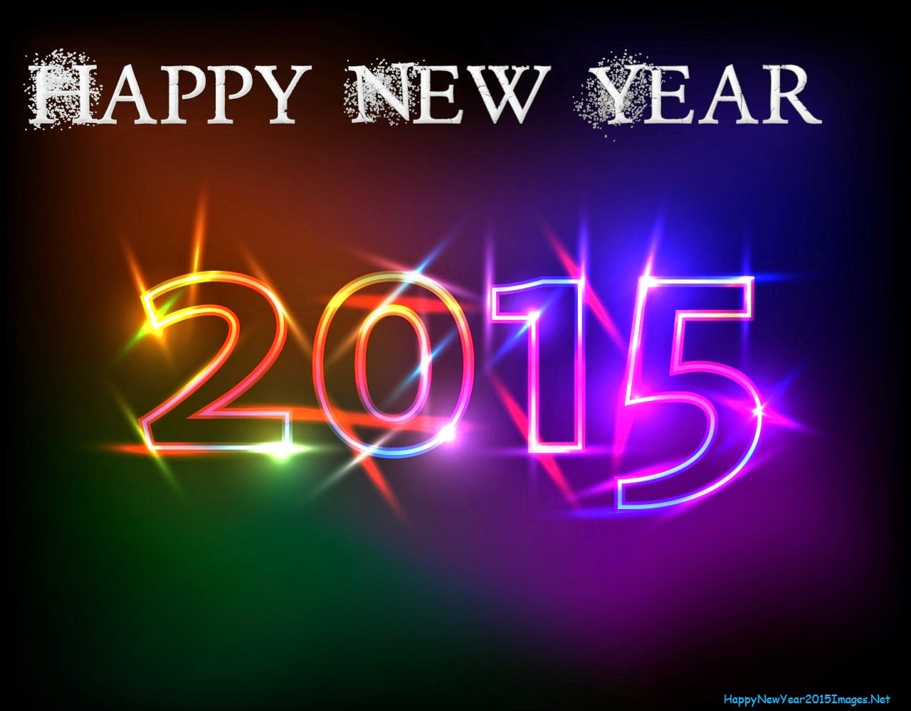 Happy New Year 2015 Wallpaper Black
