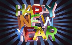 Happy New Year 3D Wallpaper Computer
