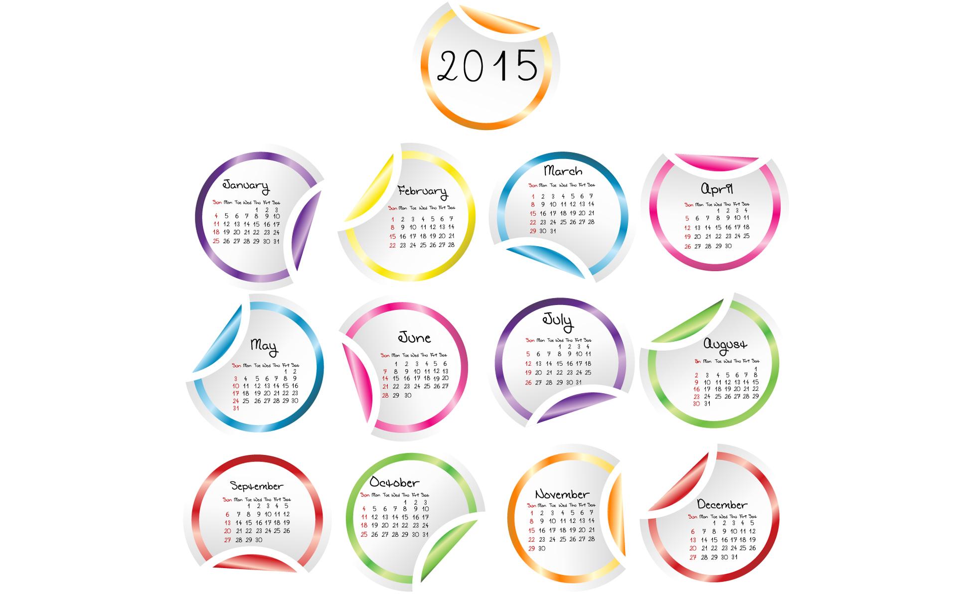 Happy New Year Calendar 2015 Wallpaper