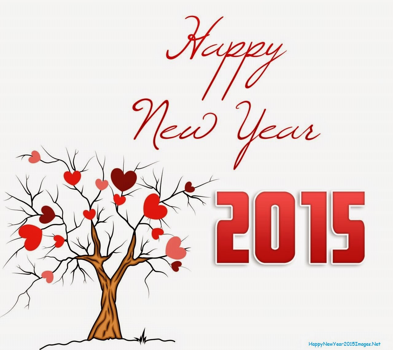 Happy New Year Tree And 2015