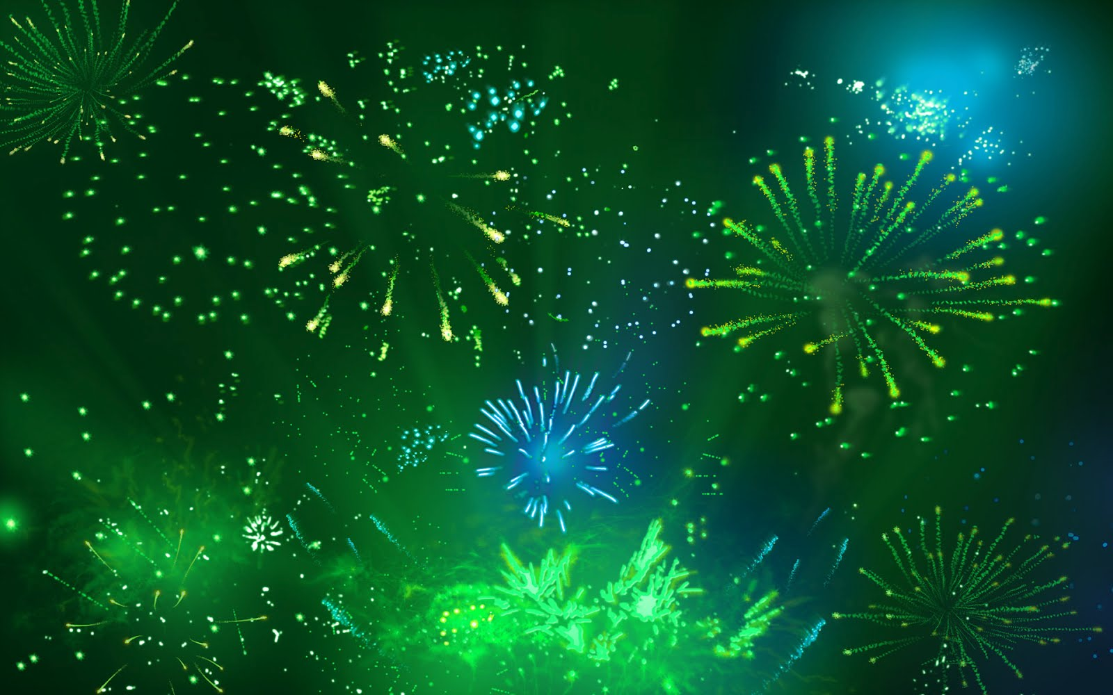Fireworks Happy New Year Wallpaper HD