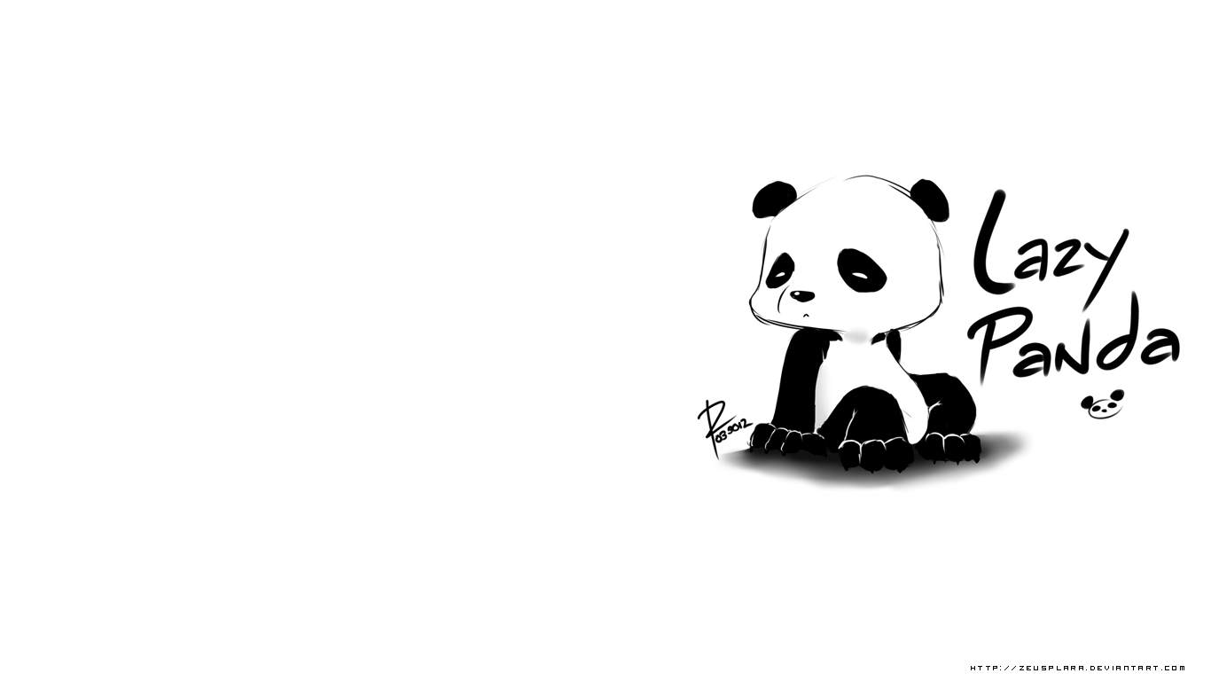 Lazy Panda Wallpaper Free
