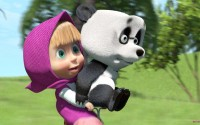Masha And The Bear Wallpaper Themes Cute 10201 Wallpaper