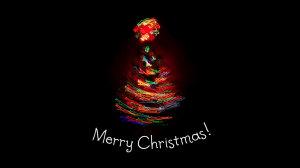 Merry Christmas Light Tree Wallpaper Download