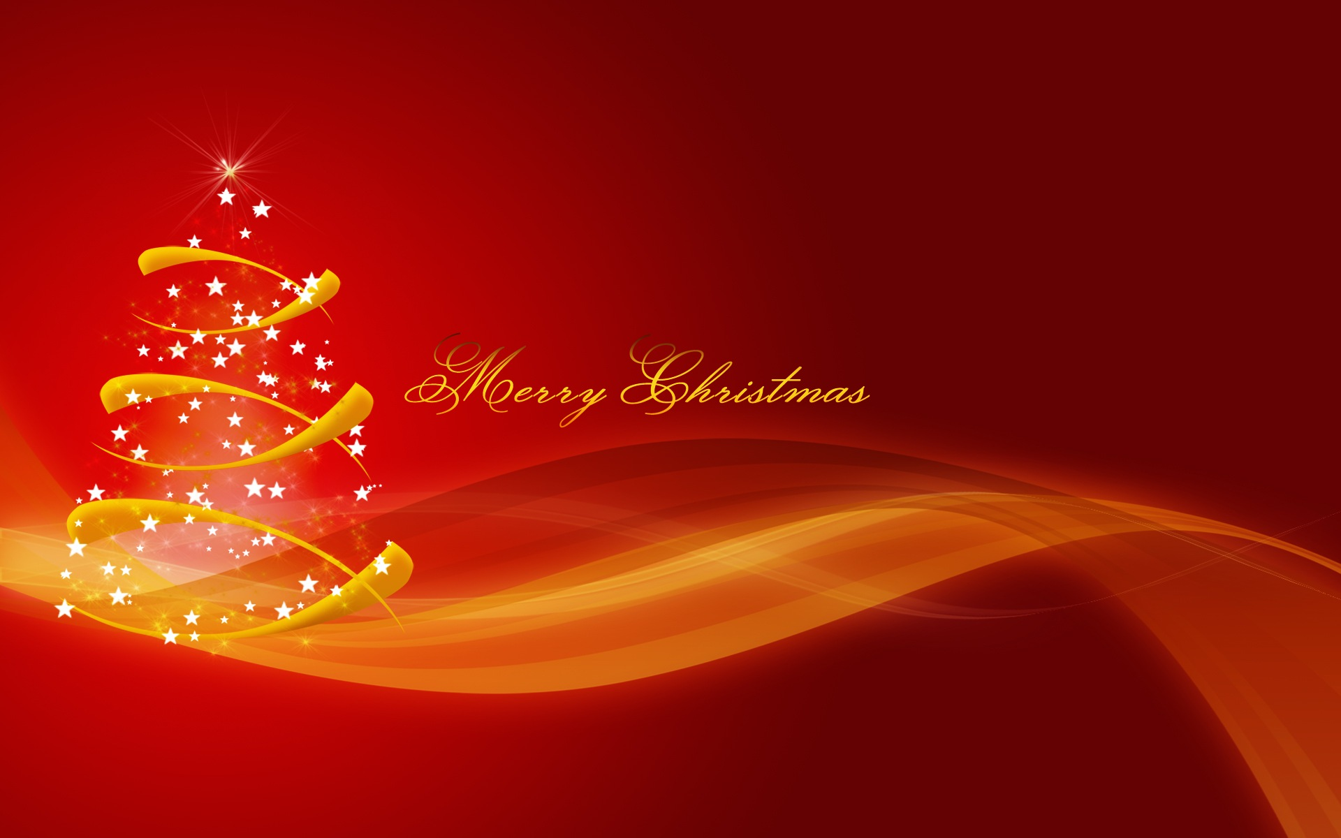 Merry Christmas Red Wallpaper 2014