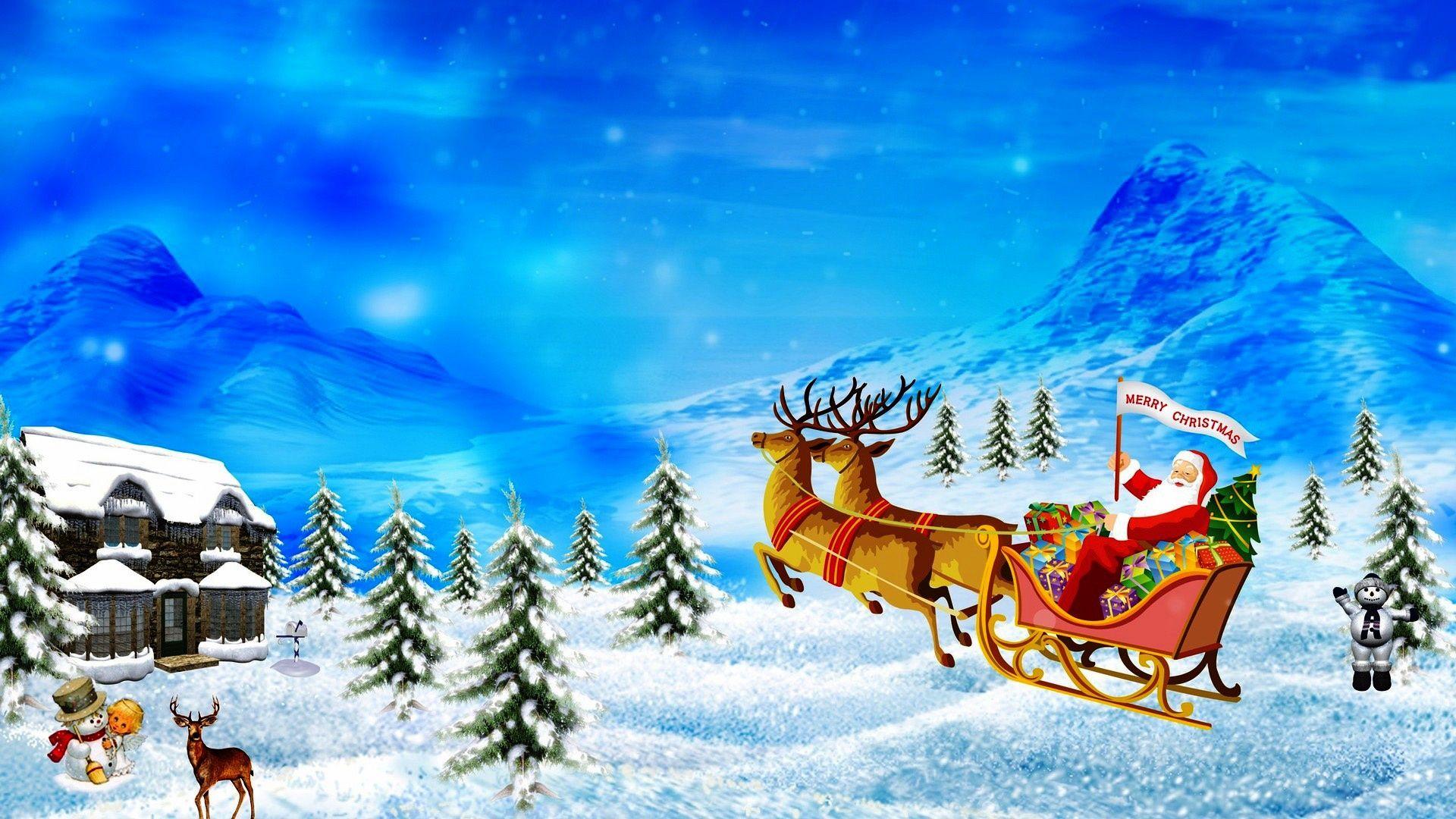 Merry Christmas Wallpaper Vector HD