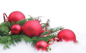 Red Ball Ornament Merry Christmas Wallpaper