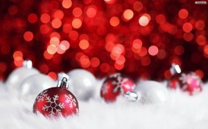 Red Christmas 2015 Decoration Wallpaper