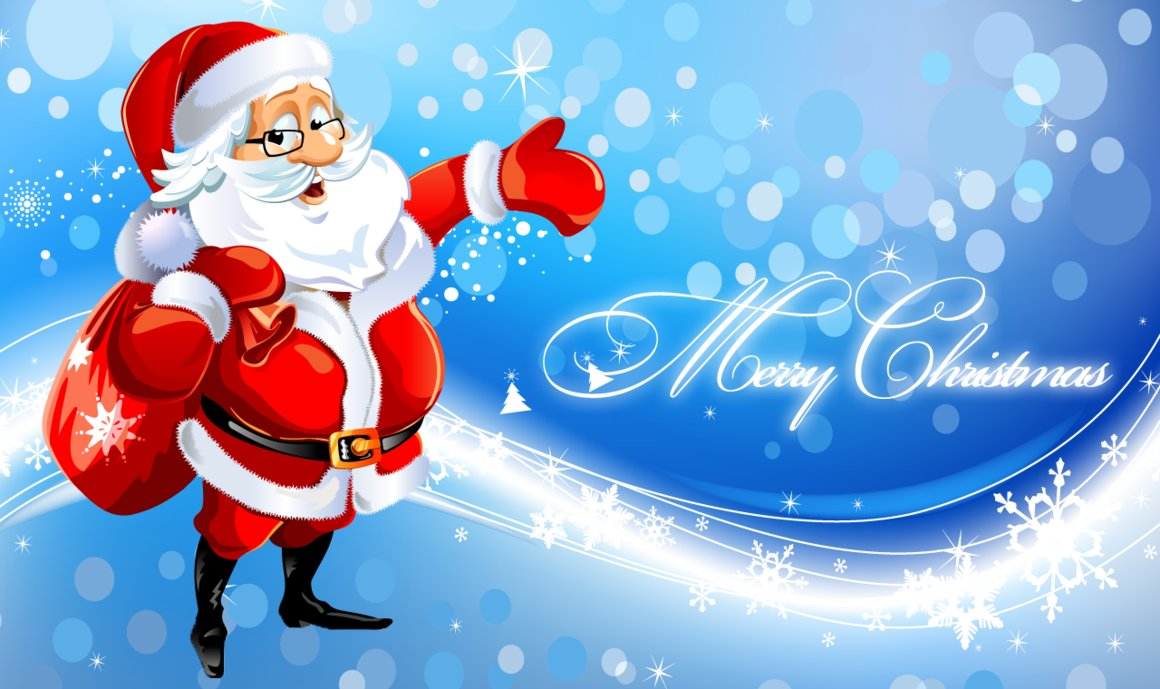 Santa Claus Funny Merry Christmas Wallpaper