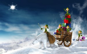 Santa Claus Happy Holiday Wallpaper