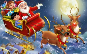 Santa Claus Wallpaper Fly