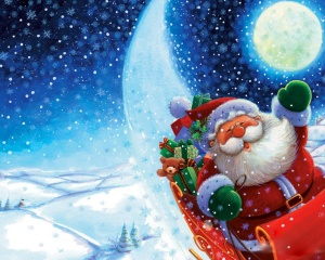 Santa Claus Wish Christmas Wallpaper