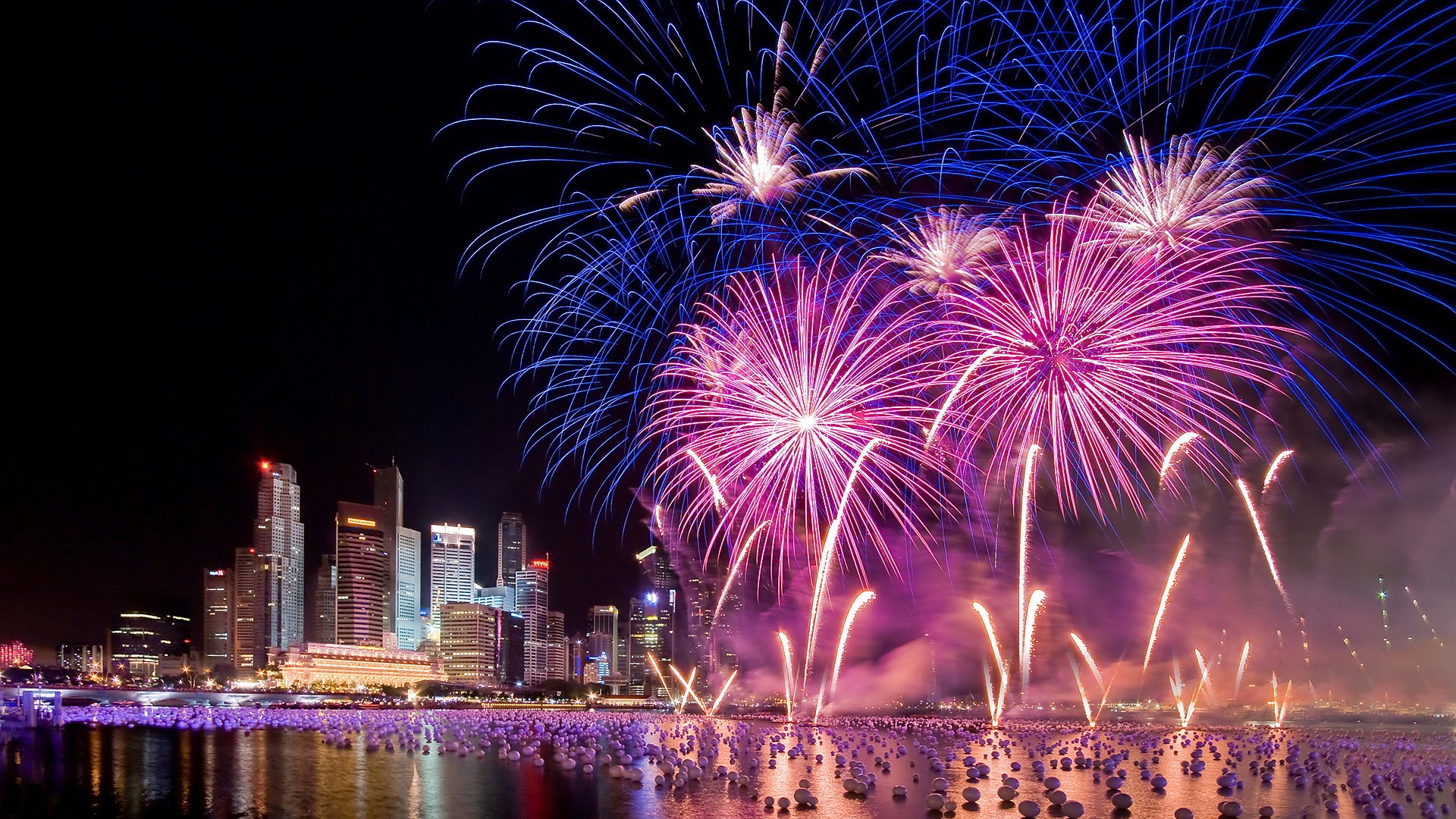 Singapore Firework Wallpaper 1080p