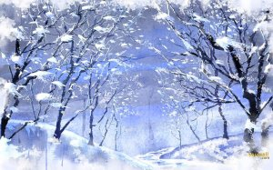 Snow Wallpaper Art Design
