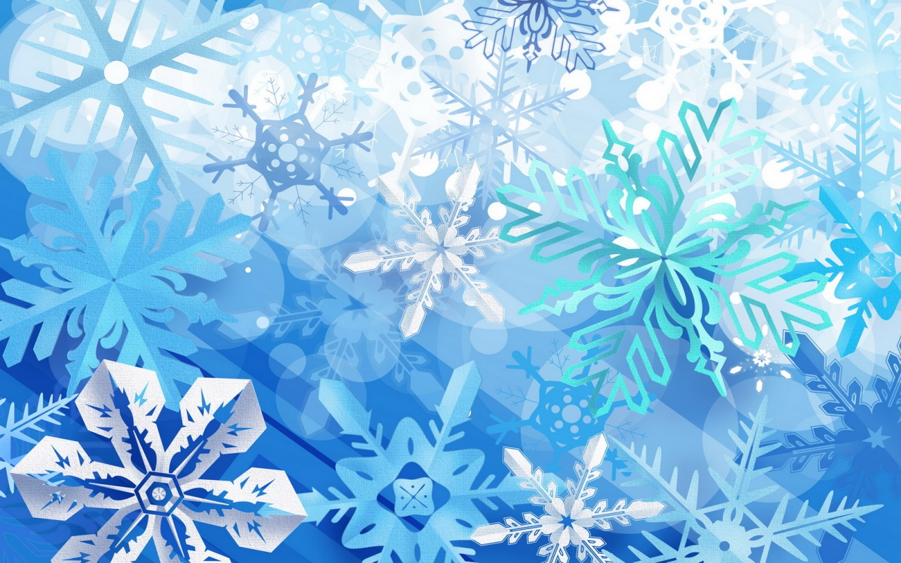Snow Wallpaper Flakes Vector