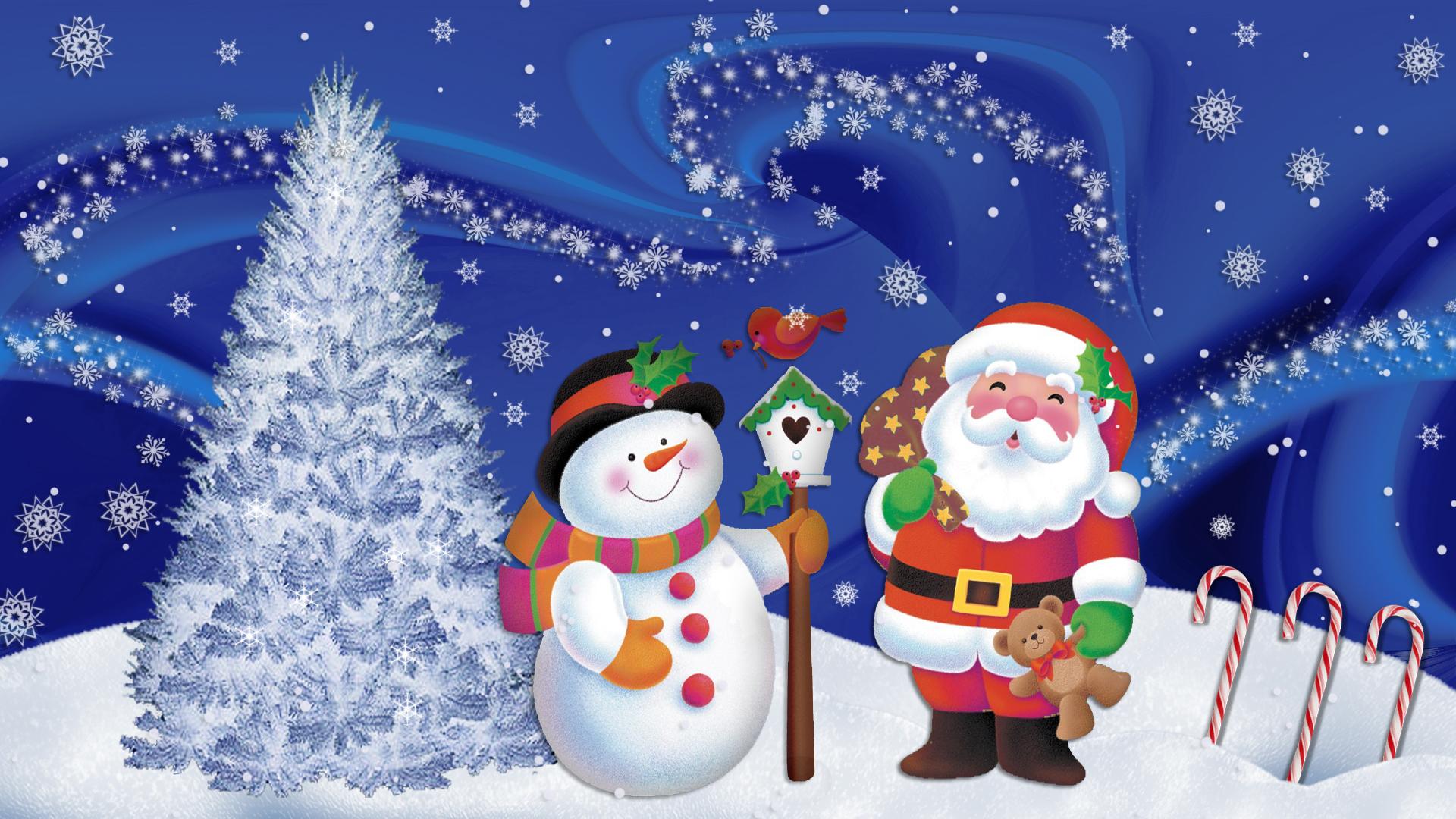 Snowman Christmas Decoration Wallpaper