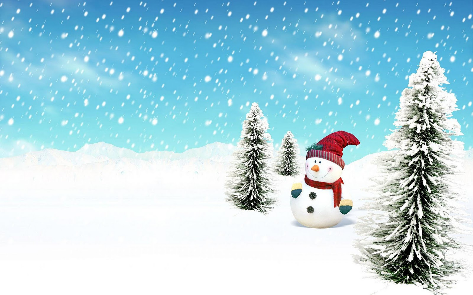 Snowman Funny Wallpaper PC