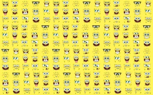 Spongebob Wallpaper Yellow Widescreen