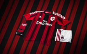 Ac Milan Adidas Home Kit Wallpaper