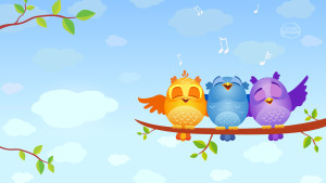 Bird Cartoons Cute Wallpaper