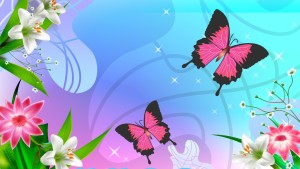Butterfly Cartoons Wallpaper
