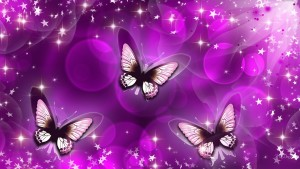 Butterfly Purple Art Wallpaper