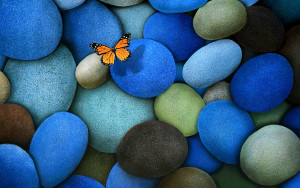 Butterfly Wallpaper Blue