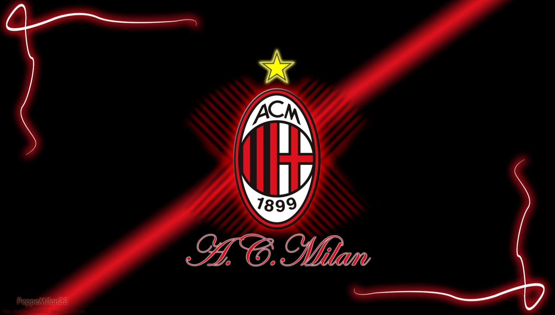 Cool Ac Milan Logo Wallpaper Art