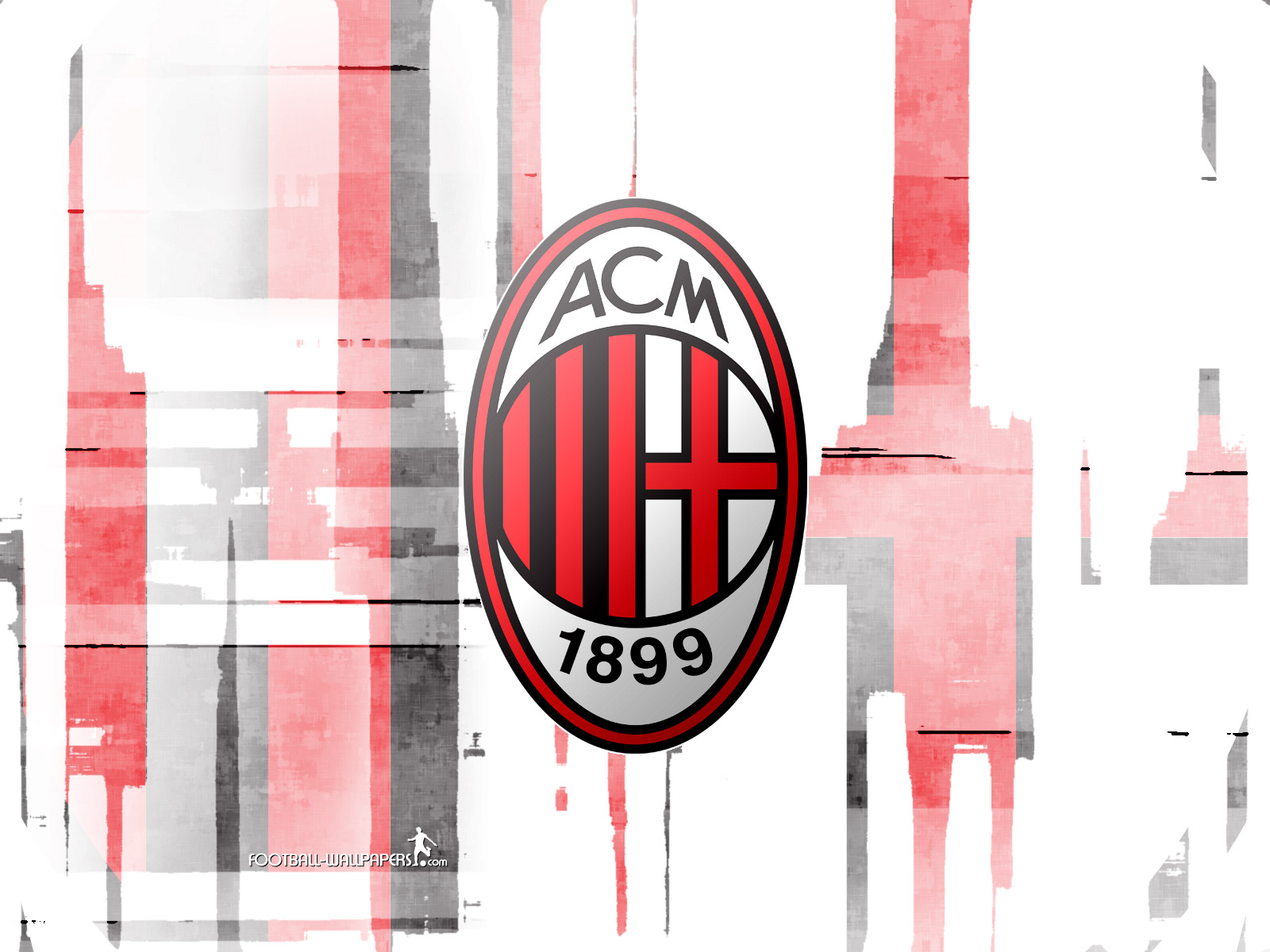League Calcio Ac Milan Logo Wallpaper