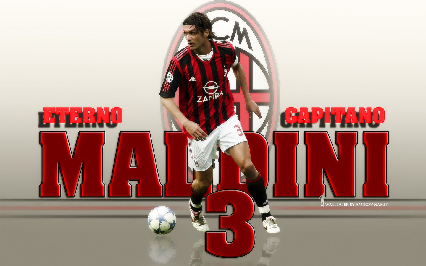 Maldini Captain Legend Ac Milan Wallpaper