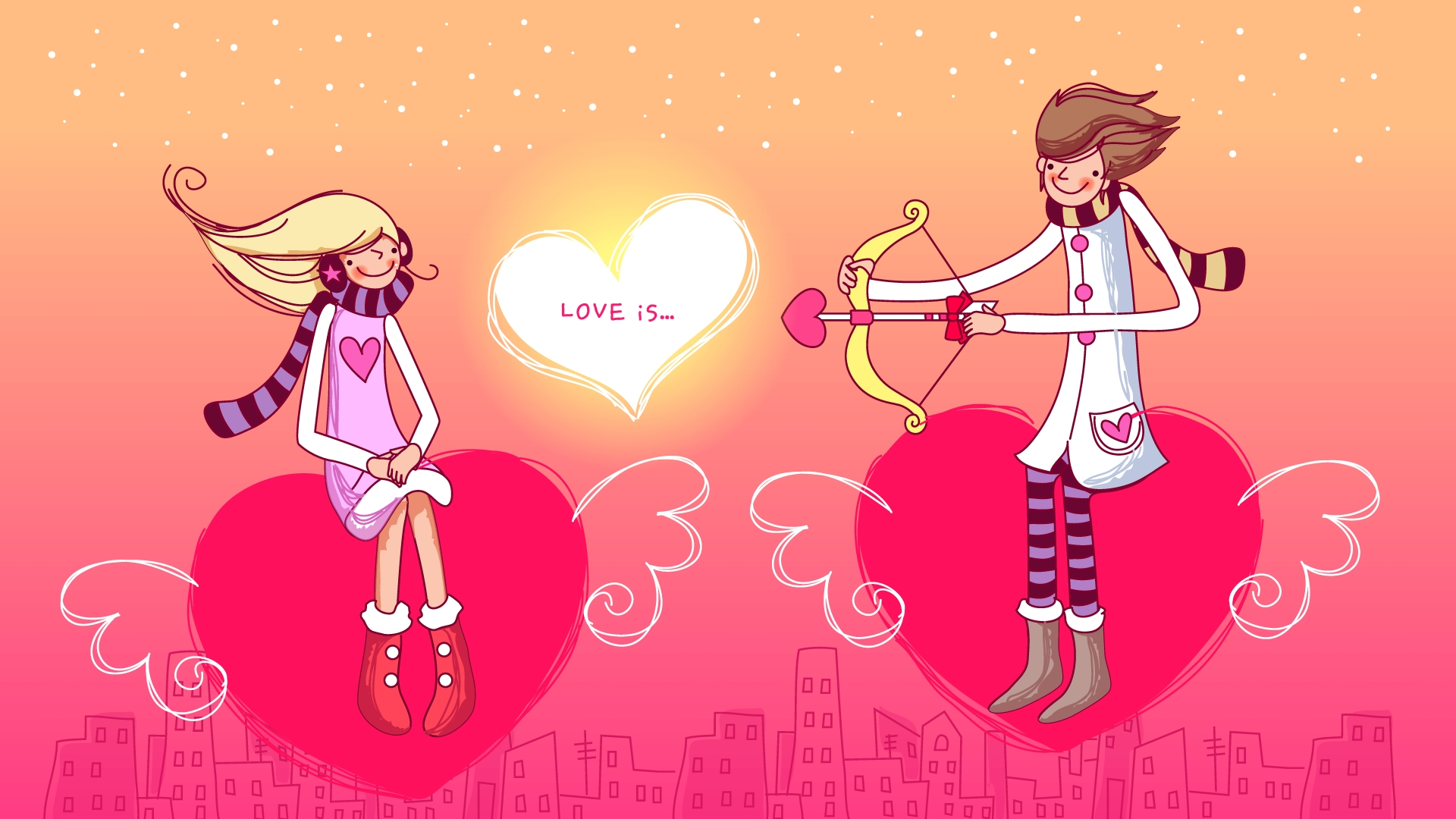 Valentine Cartoons Wallpaper HD
