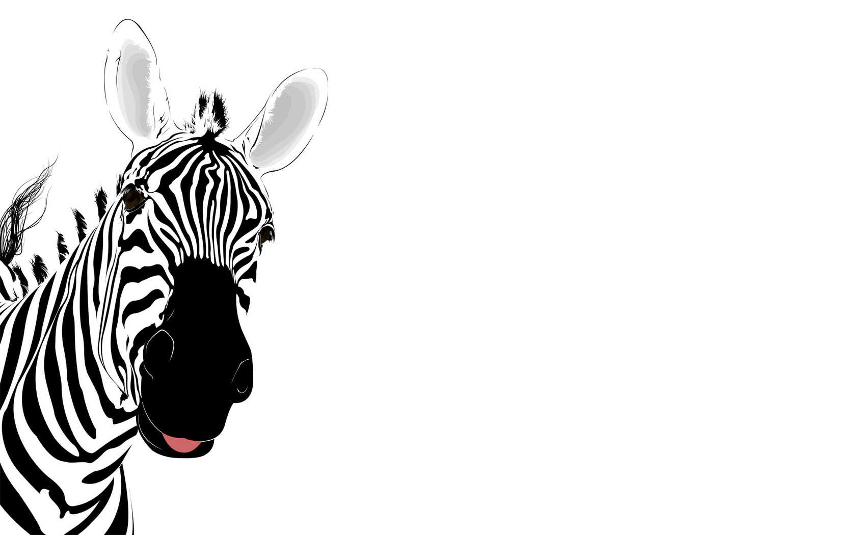 Vector Zebra Wallpaper Widescreen