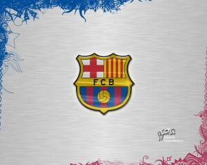 Barcelona Logo Wallpaper 3D