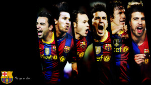 Barcelona Team Players Wallpaper
