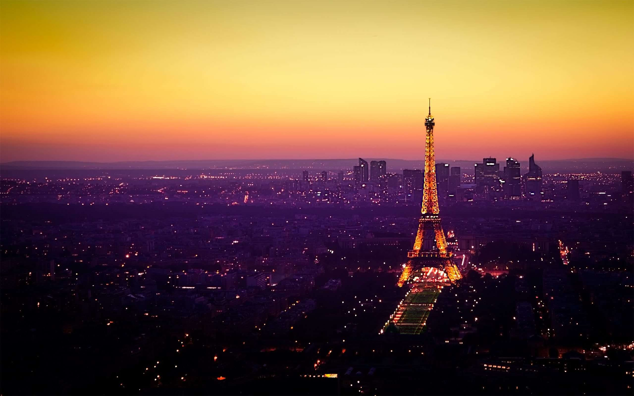 Landscape Sunset In Paris Wallpaper
